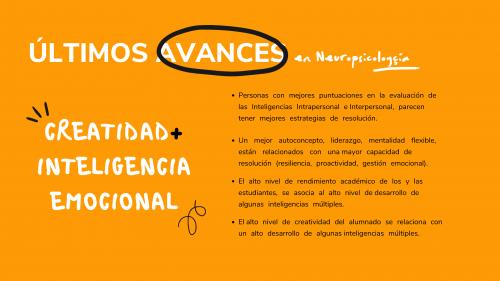 3C Innovación Educativa. Avances Neuropsicología